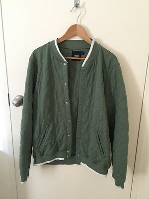 ASOS Men's Green Quilted Jacket size XL
