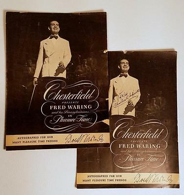 1944 Chesterfield Cigarettes FRED WARING PENNSYLVANIANS Old Time Radio Programs