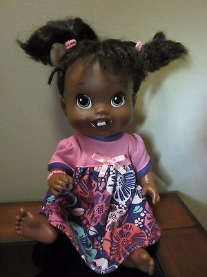 "Baby Alive Doll African American Vinyl 13"" First Teeth"