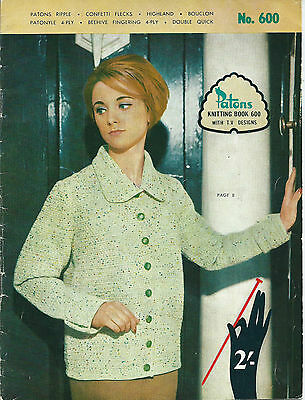Vintage Patons Knitting Book 600 - Women's Patterns - 1960s