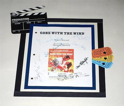 Gone With The Wind Signed Script Rpt Vivien Leigh , Clark Gable