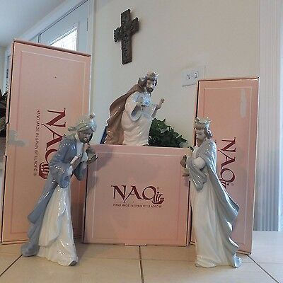 Nao By Lladro King Melchior With Chest Nativity Wiseman L@@k! Nib Fast Shipping!
