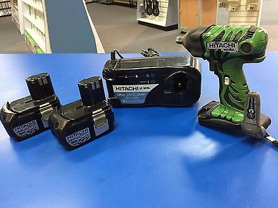 Hitachi Impact Wrench Lithium ion + 2 Batteries + Charger