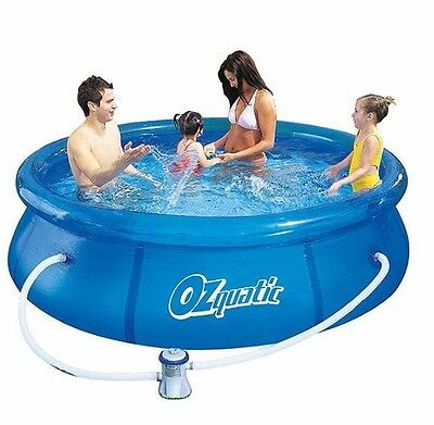 New Ozquatic 2.45m Above Ground Swimming Pool for Family & Kids Outdoor Party