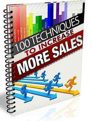 100 Ways to Increase More Sales For Your Business! Traffic Money  ebook PDF