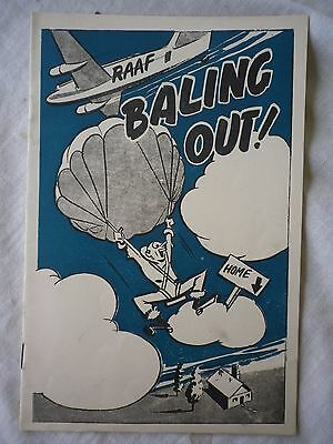 Australian WW2 RAAF 'Baling Out' booklet.  Demobilisation from RAAF.