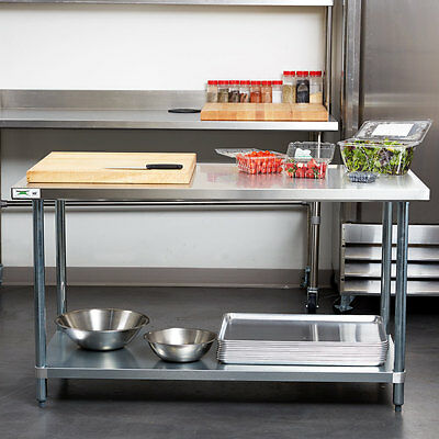 "Regency 30"" x 60"" Stainless Steel Work Prep Table Commercial Restaurant 18 Gauge"