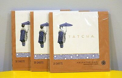 3x TATCHA ABURATORIGAMI Japanese Beauty Papers 30 sheets each