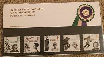 Royal Mail Mint Stamp Presentation Pack-1996-20th Century Wmn of Achievement