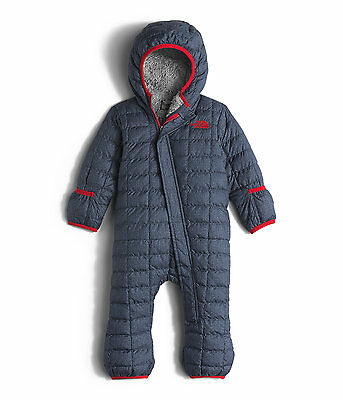 The North Face Boy Infant Thermoball Bunting 6-12 M Cosmic Blue Denim Snowsuit
