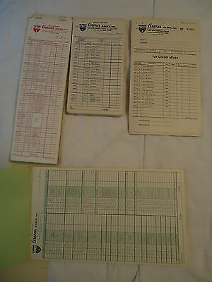 Green's All Star Dairy YORK PA group of order pads milk and ice cream