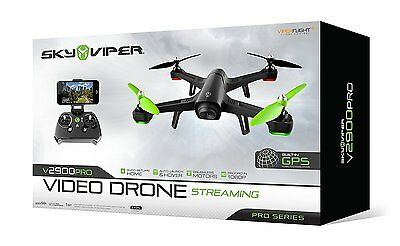 Sky Viper v2900PRO Streaming Video Drone - Pro Series GPS with AUTO Launch