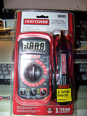 Craftsman Digital Multimeter with AC Voltage Detector New