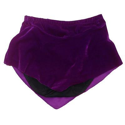 Girls Size 6 Purple Velvel Ice Roller Skating Practice Dance Skirt