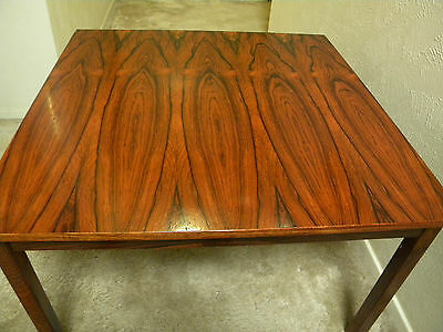 Brazilian Rosewood Coffee Table-- Beautifilly Matched Veneer Top--Solid Legs