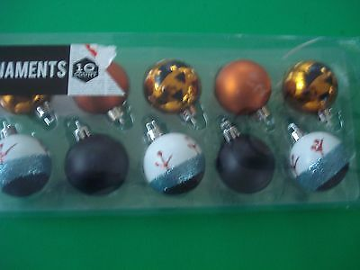 Halloween Eyeball Pumpkin Ornaments Christmas Tree Mini Set 10 New