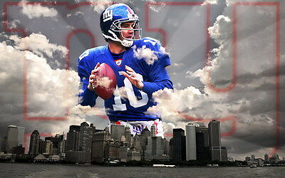 "026 Eli Manning - New York Giants NFL Player 22""x14"" Poster"
