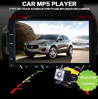 7inch 2 Din HD Car Radio MP5 Player With Digital Touch Screen Bluetooth Camera