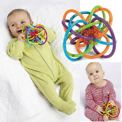 Health Baby Loud Bell Ball rattles Develop Intelligence Plastic Bell Rattle Nice