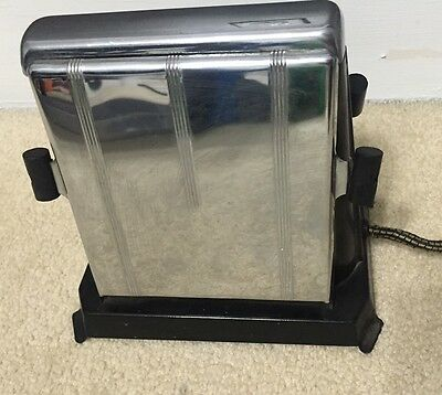 Toaster A-Frame Style Sterling AEUJ With Drop Down Panels Tested & Works