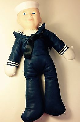 Vintage Crackerjack Lesney Boy Sailor Vogue Doll With Tag Navy Toy Collector