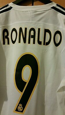 Real madrid retro shirt-9 ronaldo size L