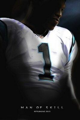 "040 Cam Newton - Carolina Panthers NFL Player 24""x36"" Poster"