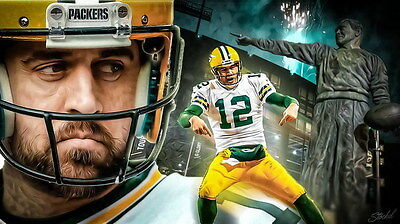 "064 Aaron Rodgers - Green Bay Packers NFL Player 42""x24"" Poster"
