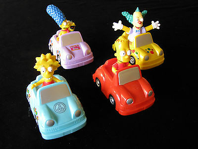 The Simpsons Characters In Cars Qty 4, 2007