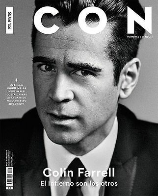 Colin Farrell Icon Spain March 2016 Cover 8 Pages Nico Rosberg Louis Garrell