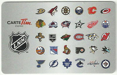 2014 LNH (NHL). Tim Hortons collectible gift card ( In French) - Unused