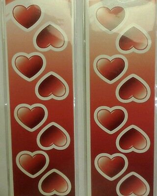 Valentines stickers, hearts, love, craft, card making, 16 per pack. Labels heart