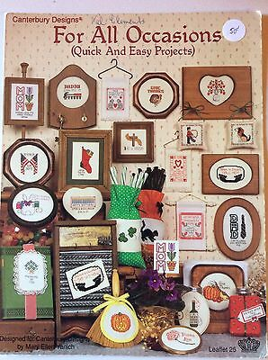 Counted Cross Stitch Pattern Leaflet