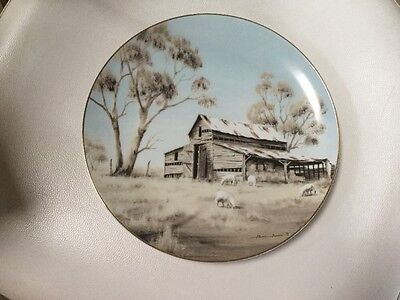 Painted Collectable Plate Of Australian Homestead