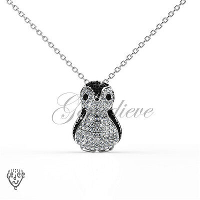 Swarovski Crystals Penguin Pendant Charm Necklace with Seal of Authenticity