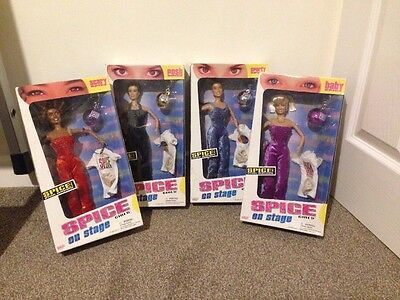 Spice Girls On Stage Dolls Full Set Of 4