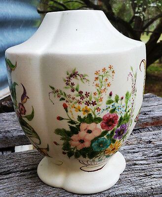 Vintage Retro Lamp Base with handpainted designs very Shabby Chic ceramic