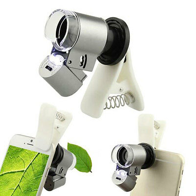 Clip-on 65x Optical Zoom HD Microscope Camera Lens For Universal Mobile Phone