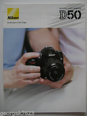 Nikon D50 digital camera sales brochure - 16 pages - 2005