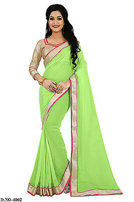 PartyWear Indian Saree Sari Bridal Embroidery Women Designer ND-4002
