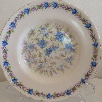 Tuscan China Love in the Mist Blue Side plate Cake plate