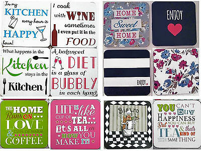 Coasters- Novelty Slogan Humerous Country Kitchen More over 30 Styles  NEW