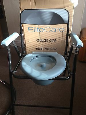 Lightweight economy folding commode chair portable toilet with pan
