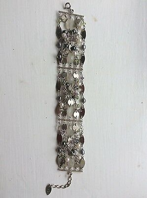 silver 925 seed pearl and stones bracelet