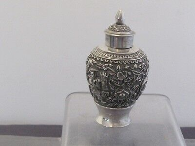 Argent Massif Chine Chinese Export Silver Pot Couvert