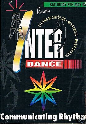IN-TER-DANCE Rave Flyer Flyers 8/5/93 A5 Sterns Worthing