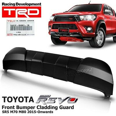 For TOYOTA Hilux Revo SR5 M70 M80 2015-ON Front Bumper Cladding Guard TRD OEM