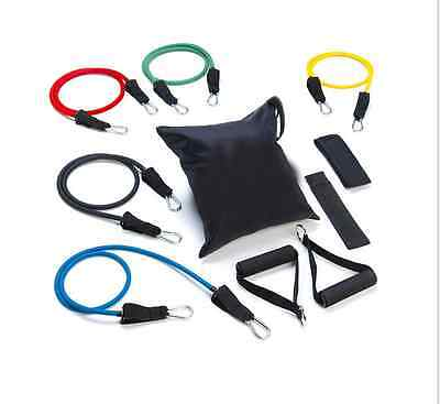 Gym Exercise Resistance Bands 11 Pcs Set For Yoga Abs Fitness Pilates Workout