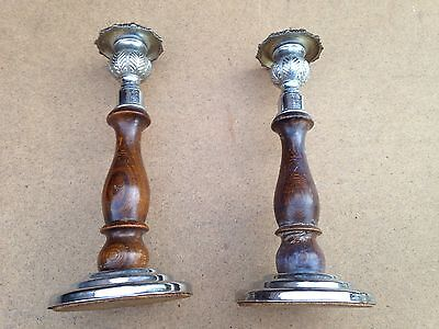 Wood And Metal Candle Sticks