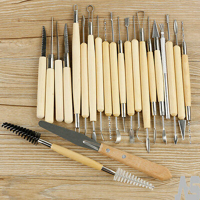 22X Sculpting Tool Pro Polymer Clay Set Wood Models Art Projects Pottery Tool UK